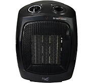 Vie Air 1500W Portable 2-Settings Office BlackCeramic Heater - H294197