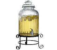 Springfield Glass Beverage Dispenser with Stand - H368297