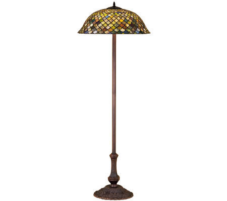 tiffany style fishscale floor lamp. Black Bedroom Furniture Sets. Home Design Ideas