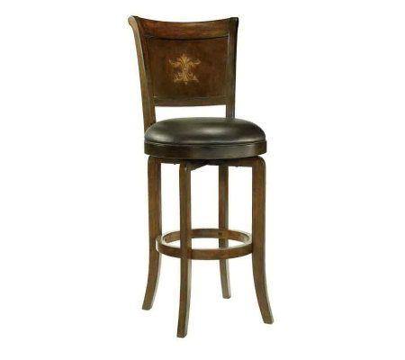 Hillsdale Furniture Bradford Swivel Bar Stool Qvc Com