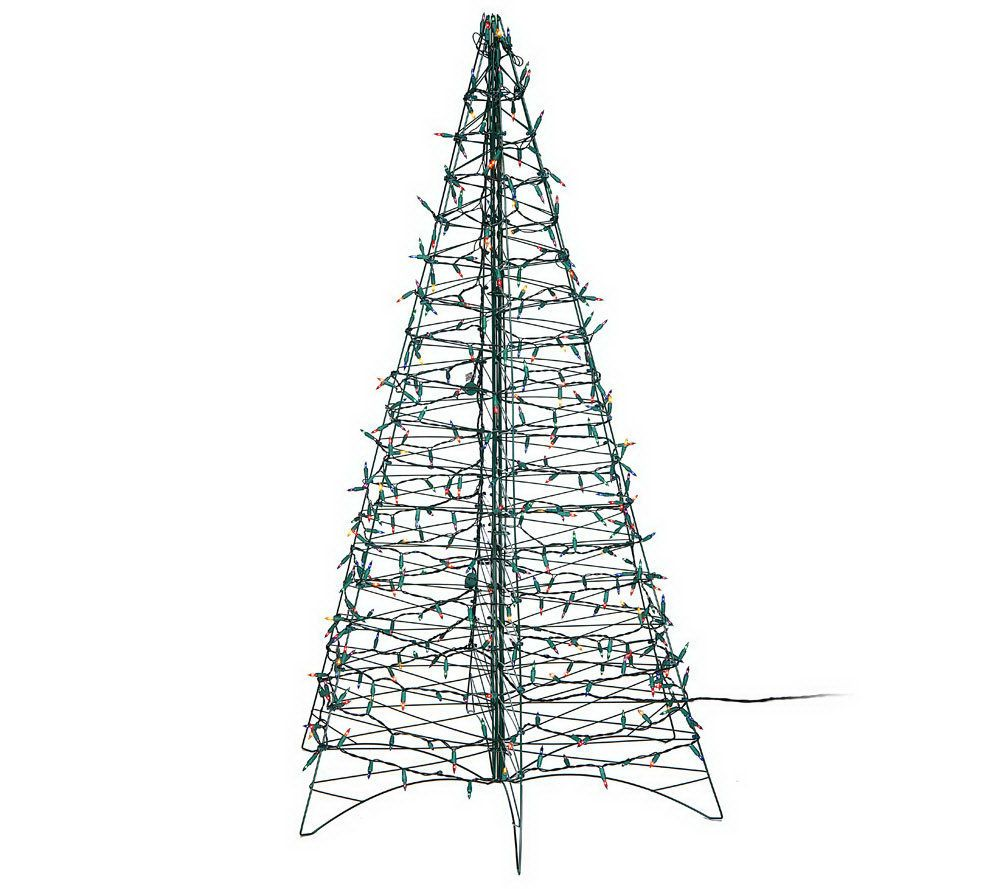 pre lit 6 fold flat outdoor christmas tree by lori greiner page 1 qvccom - Outdoor Christmas Trees