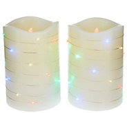 Lightscapes (2) 5 Swirl Light Pillar Flameless Candles - H205398