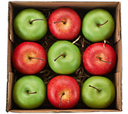 Set of 9 Decorative Apples or Pears by Valerie - H206298