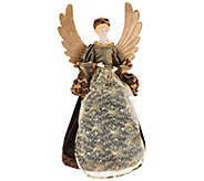 As Is Dennis Basso 18 Angel with Faux Fur Trim - H207598