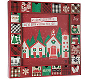 Hallmark 16x16 Wooden Holiday Advent Calendar with Drawers - H209298