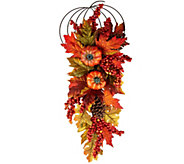 26 Leaves, Berry and Hydrangea Decorative Hanger - H209398