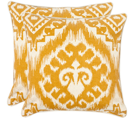 Qvc Decorative Pillows : Safavieh Set of 2 18