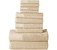 Elegance Spa Jacquard 10-piece Towel Set - H294898