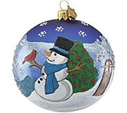 Reed & Barton Classic Christmas Snowball Ornament - H295098