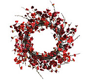 24 Plum Blossom Wreath by Nearly Natural - H295598