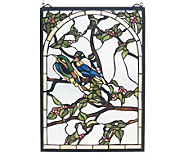 Tiffany Style Lovebirds Window Panel - H123499