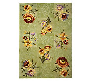 Royal Palace Watercolors Silhouette 49 x 69 Handmade Rug - H193599