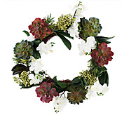 Orchid & Succulent Wreath by Valerie - H202099
