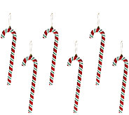 Set of 6 13 Candy Cane Ornaments by Valerie - H205299