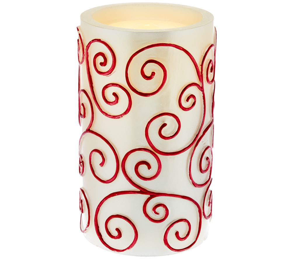 Bethlehem lights window candles with timer - Bethlehem Lights 8 5 Scroll Aqua Flame Flameless Candle Page 1 Qvc Com