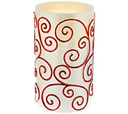 Bethlehem Lights 8.5 Scroll Aqua Flame Flameless Candle - H205399