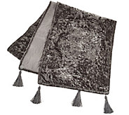 Dennis Basso 72 Posh Holiday Velvet Table Runner - H206599