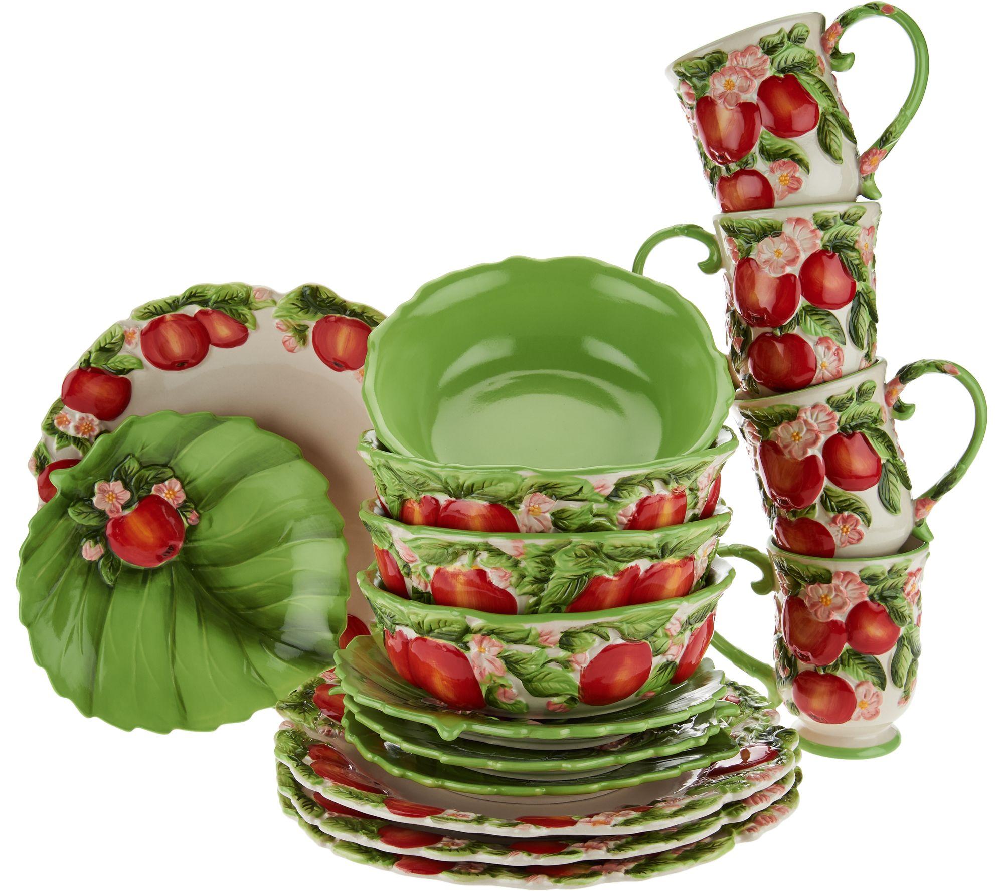 sc 1 st  QVC.com & Temp-tations Figural Fruit 16 Piece Dinnerware Set - Page 1 \u2014 QVC.com