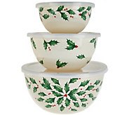 Lenox 3pc Holiday Mixing Bowl Set - H208699