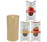 Luminara 7 Fragrance Candle with 3-pc. Cartridge Starter Pack - H209999