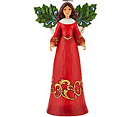 Jim Shore Heartwood Creek Holly Angel Figurine - H210099