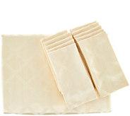 Lenox Laurel Leaf 70x122 Water Repel Table Cloth w/ 10 Napkins - H210999