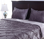 Berkshire Blanket Queen Velvet Pintuck Coverlet with Shams - H213099