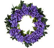 Bethlehem Lights Indoor/Outdoor 24 Hydrangea Wreath - H214599