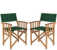 Safavieh Set of 2 Laguna Director Chairs - H286499