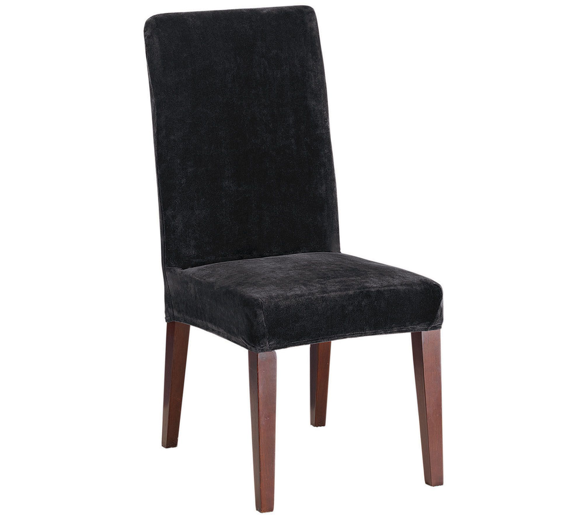 Sure Fit Stretch Plush Short Dining Chair Slipcover QVCcom : h289799 from www.qvc.com size 1984 x 1764 jpeg 166kB