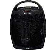 Vie Air 1500W Portable 2-Settings Black CeramicHeater - H294199