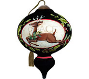 5.50 Seasons of Peace Reindeer Ornament by NeQwa - H294299