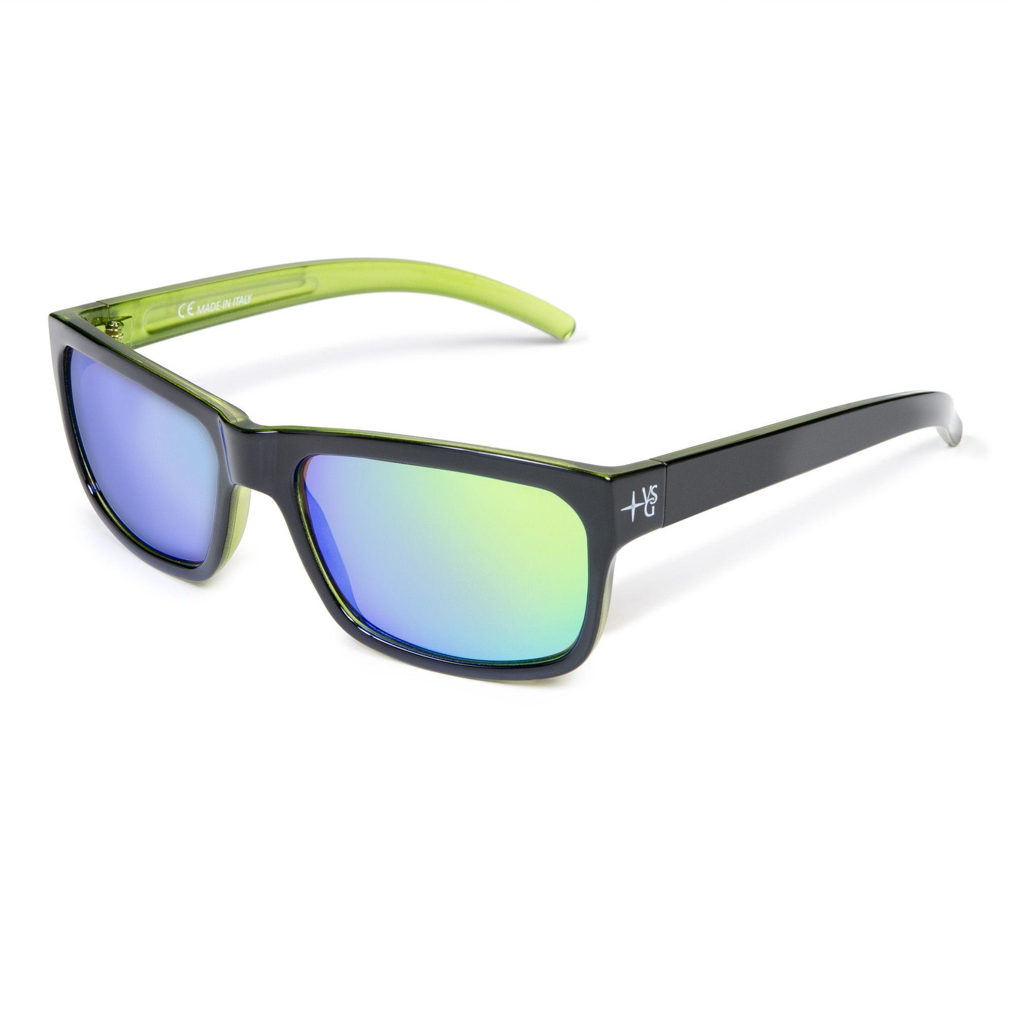 Occhiali da sole con lenti a specchio e astine colorate qvc italia - Occhiali con lenti a specchio colorate ...