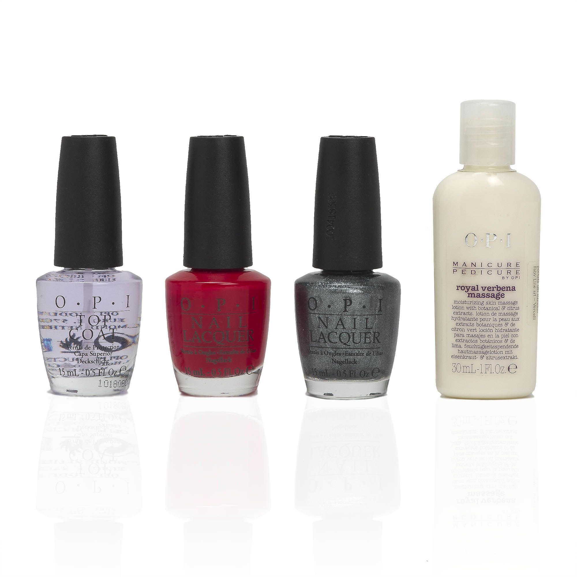 OPI Swiss Essentials Kit due smalti 15ml, top coat  e crema 30ml