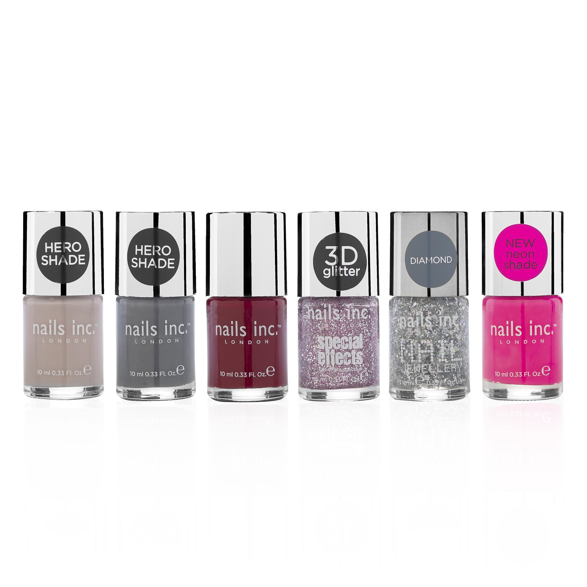 Nails inc. I Best Sellers: kit smalti colori ultrabrillanti da passerella (6 pz)