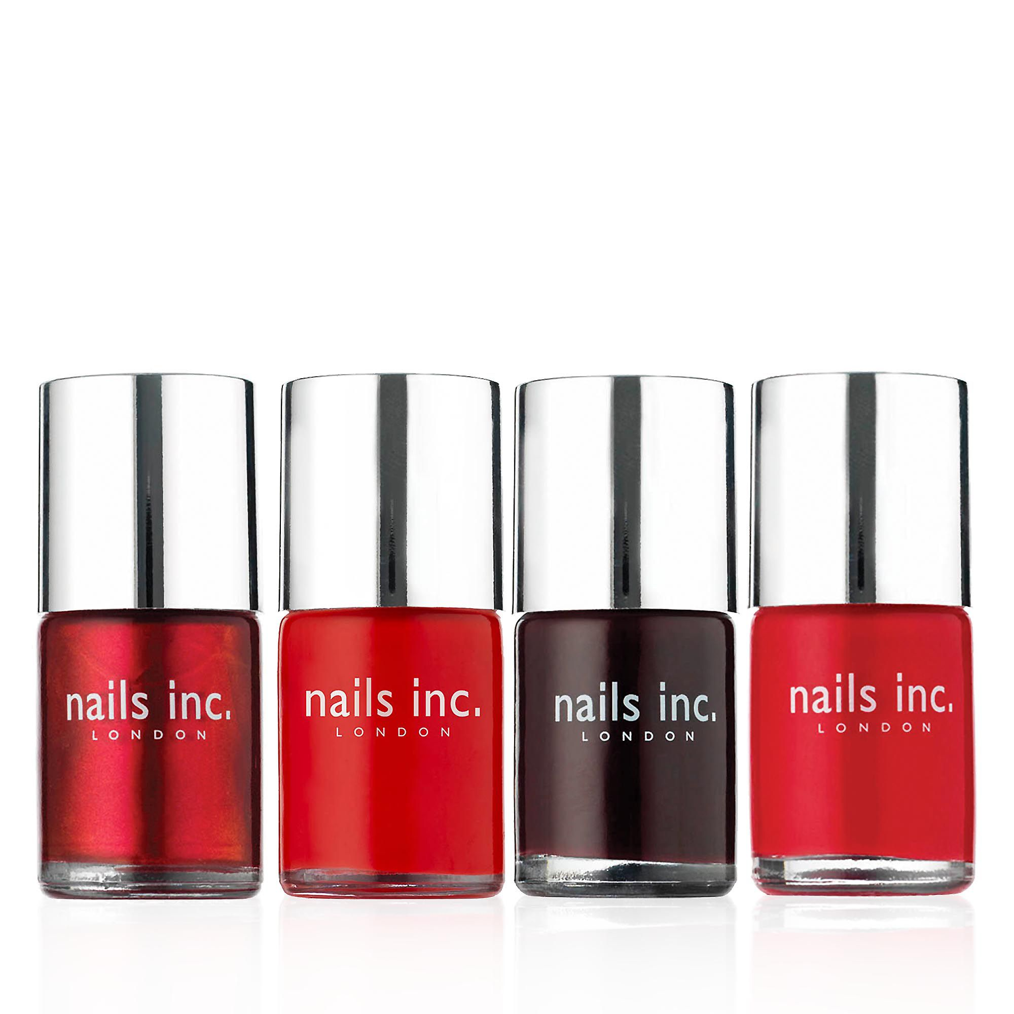 Nails inc. Classic Collection kit smalti bouquet di rossi (4 pz)