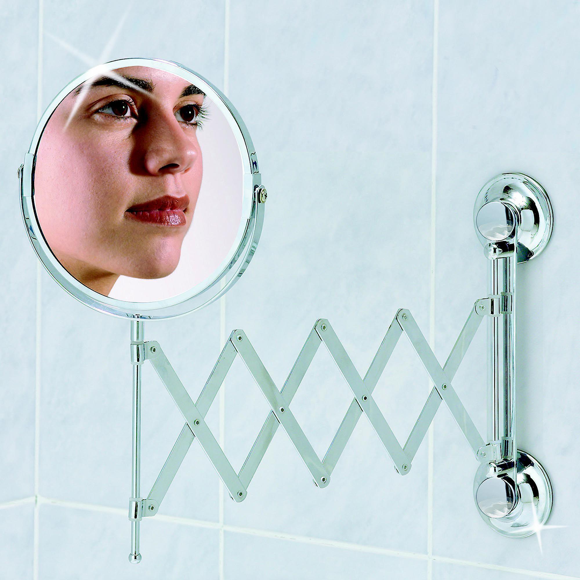 Premium specchio con aggancio a ventose e braccio a - Ventose per piastrelle ...