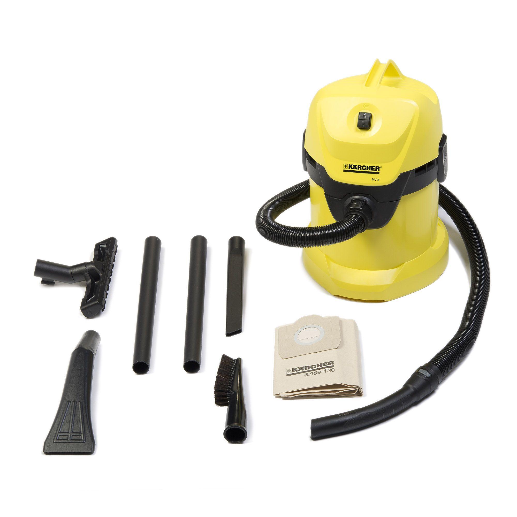 Aspiratore MV3 per liquidi e solidi con 1 sacchetto, kit