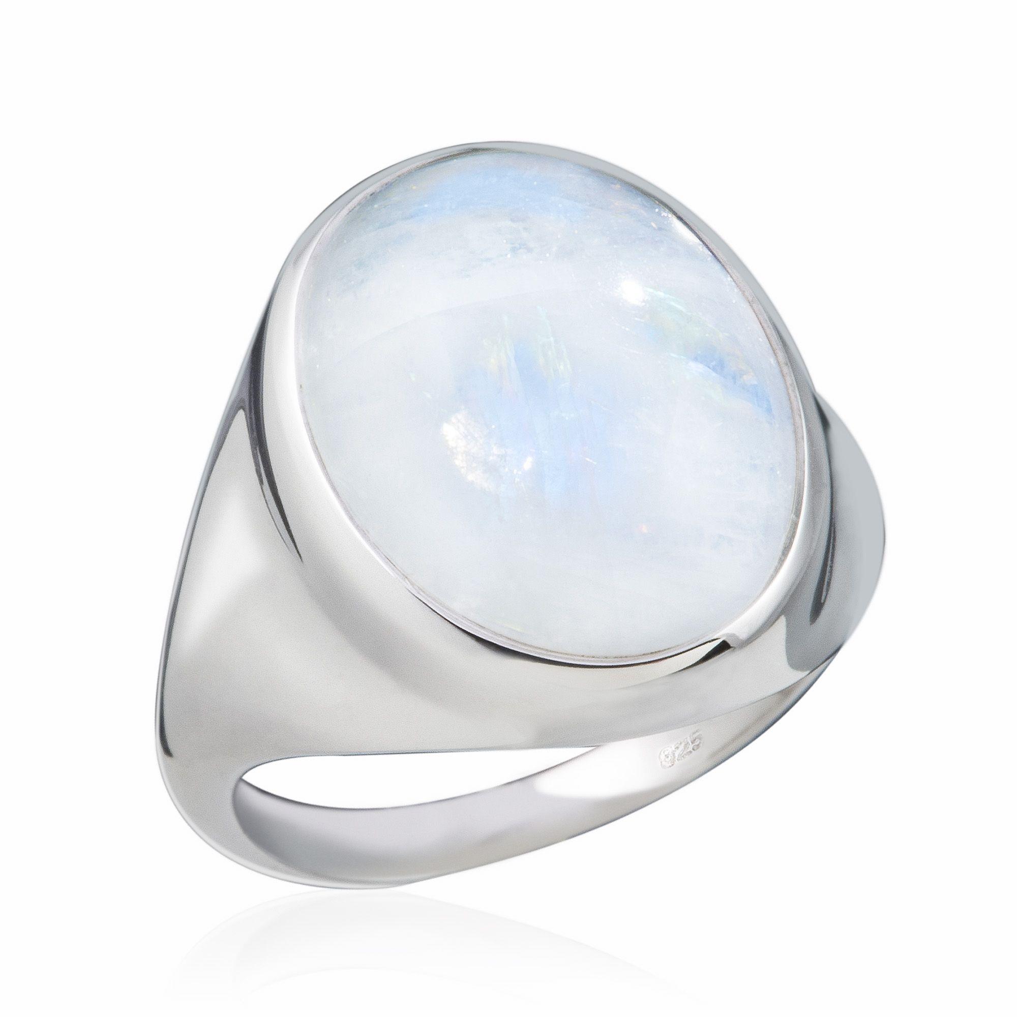 anello ovale in argento 925 con pietra di luna arcobaleno qvc italia. Black Bedroom Furniture Sets. Home Design Ideas