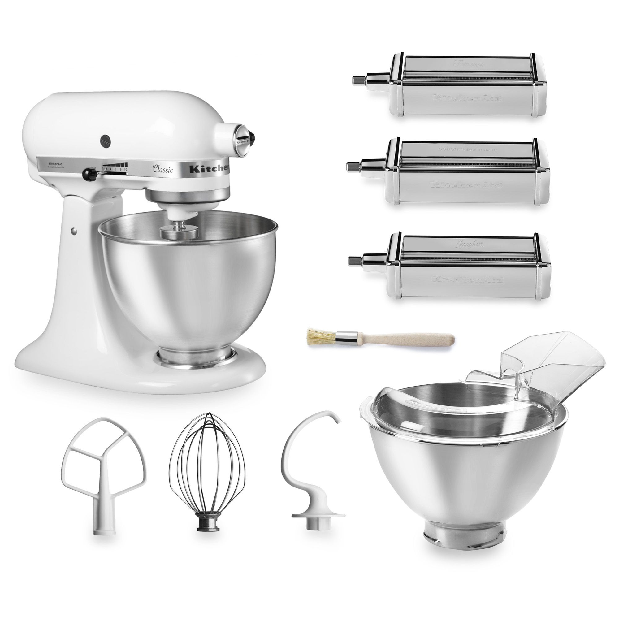 Robot da cucina classic con 2 ciotole e 3 accessori per la pasta qvc italia - Robot per cucinare e cuocere ...