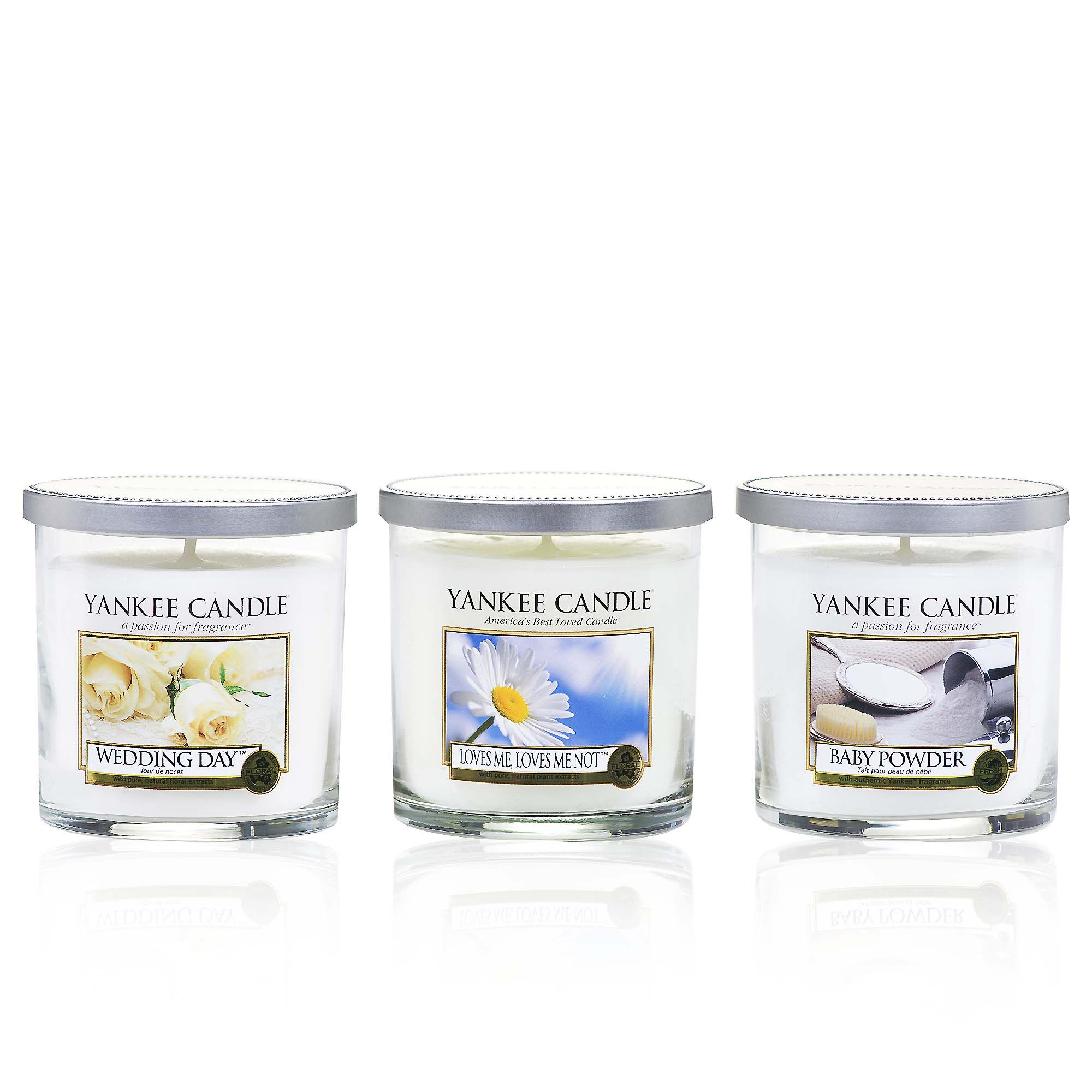 Yankee Candle Set 3 candele in bicchiere in 3 fragranze