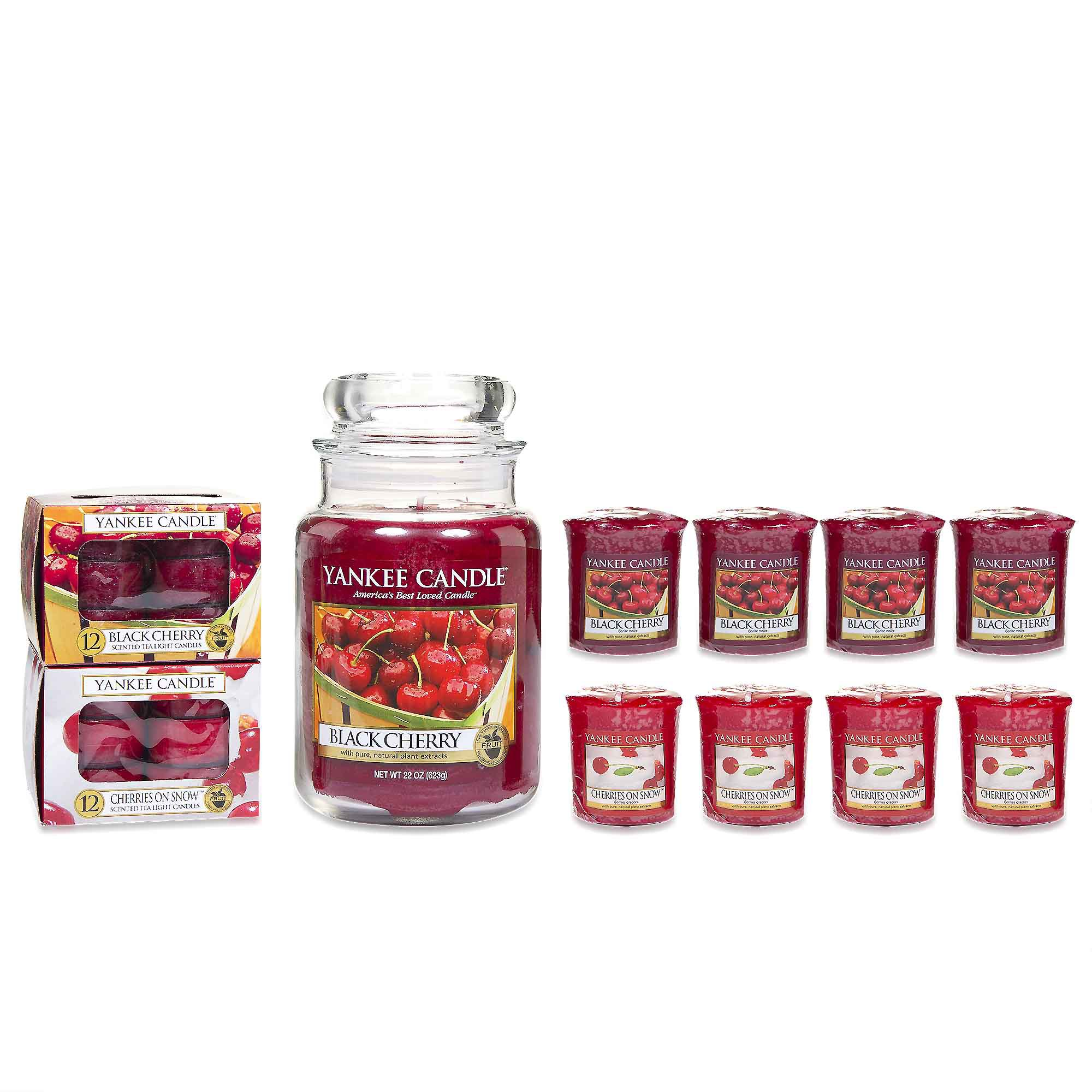 Yankee Candle Set 1 giara grande, 8 candele e 24 tealight in 2 fragranze