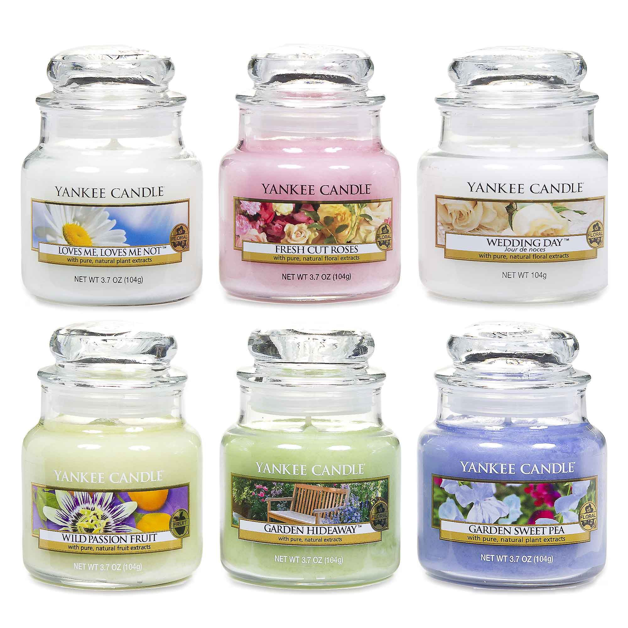 Yankee Candle Set 6 candele in giara di vetro piccola in 6 fragranze