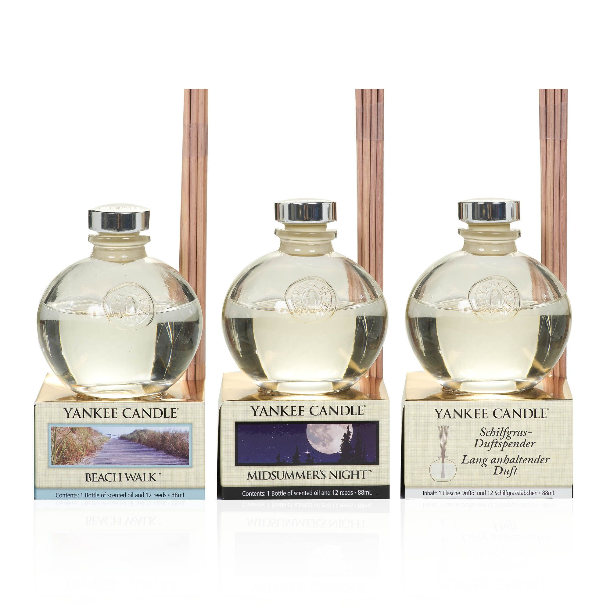 Yankee Candle Set 3 diffusori con bastoncini in legno in 3 fragranze