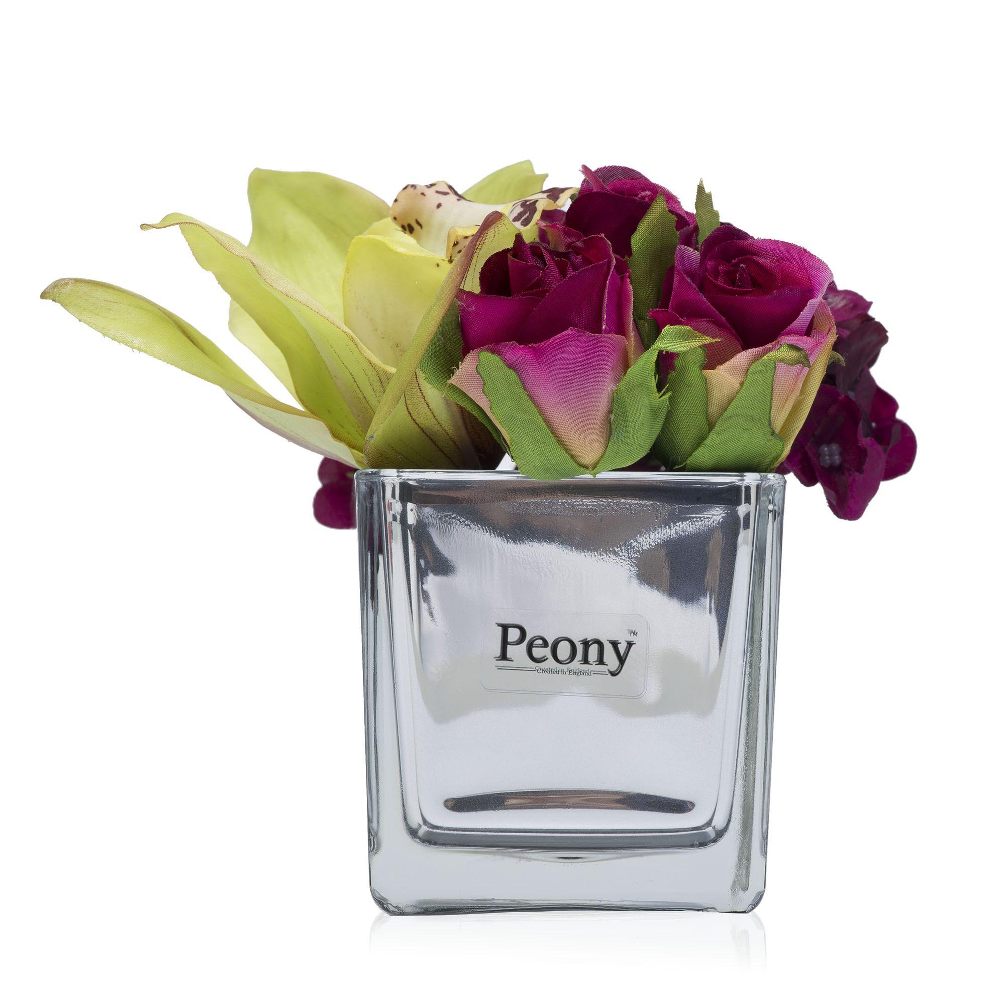 Ortensie orchidee e rose in vaso a specchio qvc italia for Ortensie in vaso