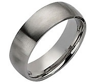 Forza Mens 7mm Steel Brushed Ring - J109500