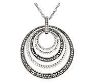 Suspicion Sterling Marcasite Multi-Circles Pendant w/18 Chain - J112500
