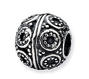 Prerogatives Sterling Studded Circle Artisan Bead - J113300