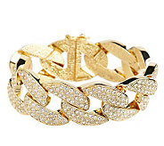 Melania Limited Edition Pave Style Curb Link 7 Bracelet - J261400