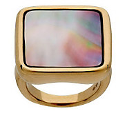 Bold Square Mother-of-Pearl Ring 14K Gold - J265500